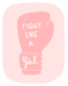 Fight like a girl boxing glove