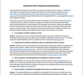 FL HC Clinic FAQ