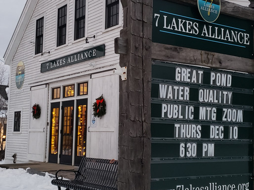 Great Pond Water Quality Plan Public Meeting