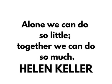 Inspirational quote by Helen Keller. ⁠⁠