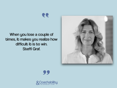 #quote 17.Inspirational moment by Steffi Graf