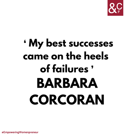 Inspirational quote by Barbara Corcoran.