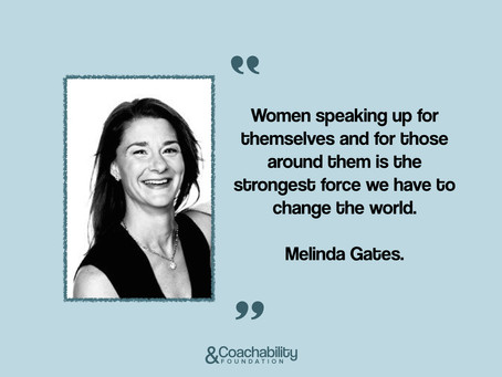 #04 Quote. Inspirational moment by Melinda Gates