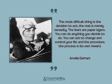 #05 Quote.Inspirational moment by Amelia Earhart