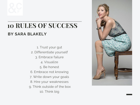10 Rules for Success by Sarah Blakely