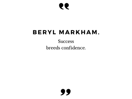 #37 Inspirational Quote by Beryl Markham.