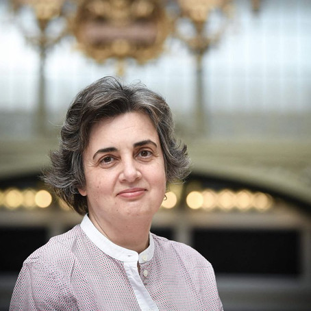 Laurence des Cars, the new director of the Louvre Museum.