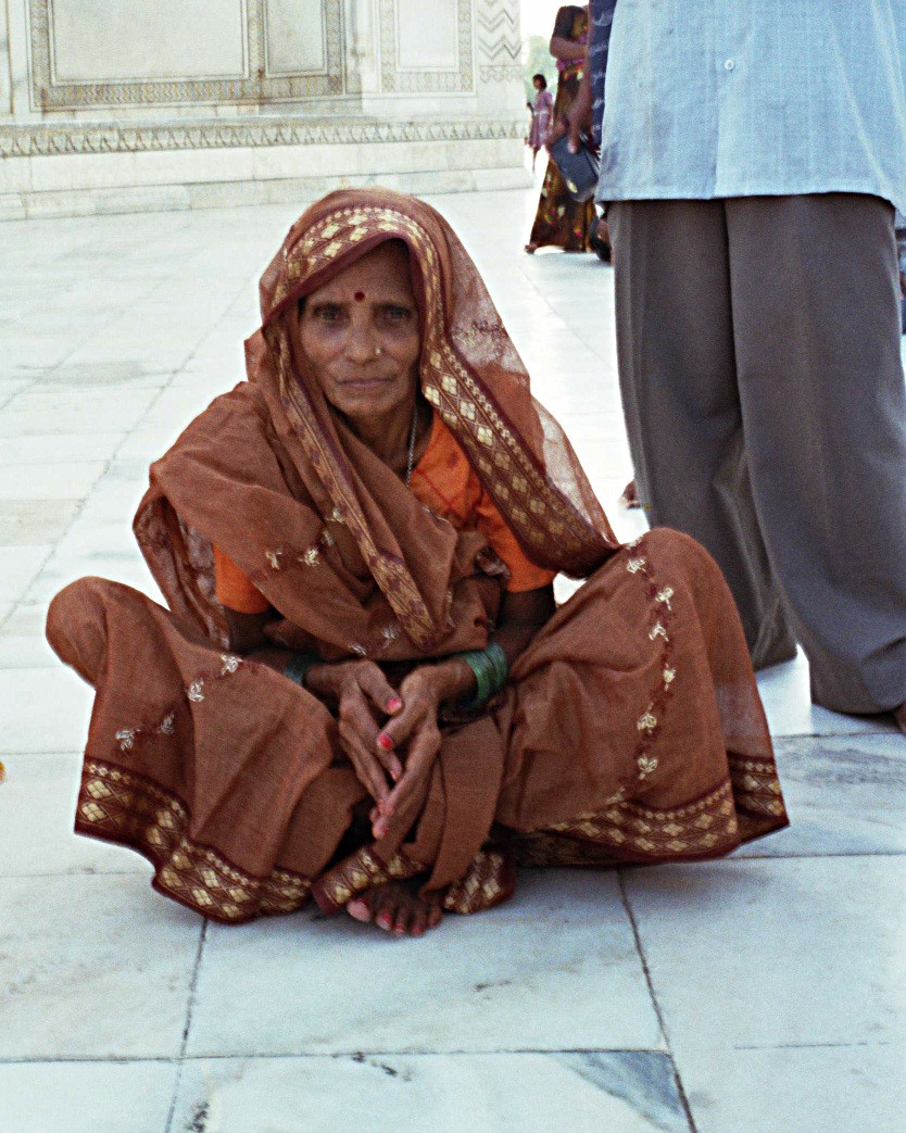 Woman in Taj Mahal, India.