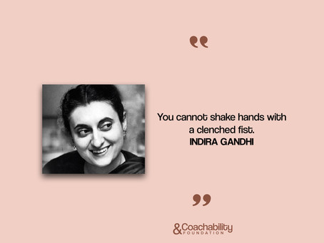 #quote 20.Inspirational moment by Indira Gandhi.