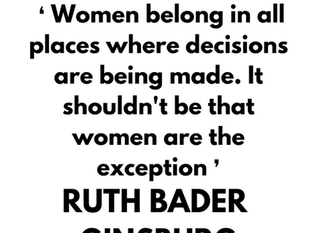 Inspirational quote by Ruth Bader Ginsburg.⁠