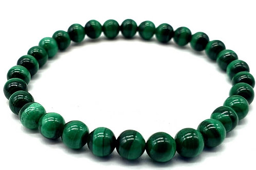 Bracelet Light green Malachite 6 mm