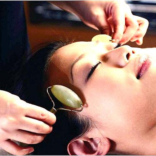 Soin coréen affermissant - baguettes et rouleau de jade