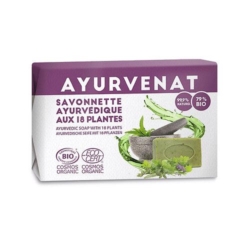 Savon Ayurvédique 18 plantes Bio 100gr