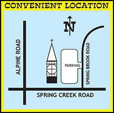 map location for Spring Creek UCC, Rockford
