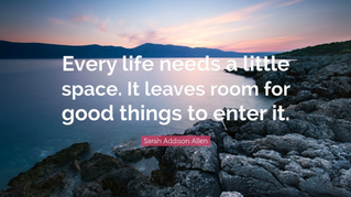 We All Need Our Space