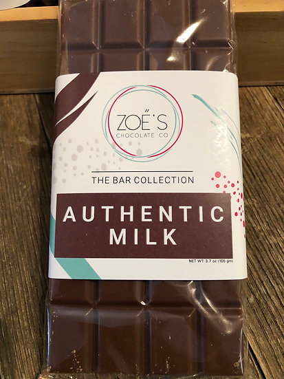 Authentic Milk Chocolate  candy Bar