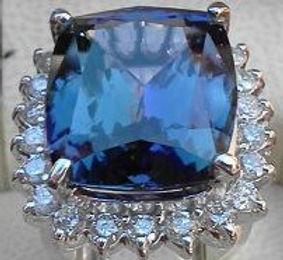 Tanzanite diamonds and Gold.