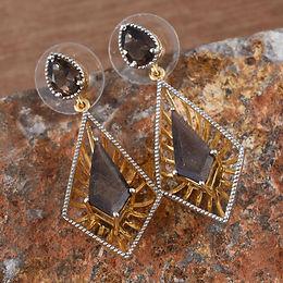 Chocolate Sapphire ear ring