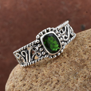 Chrome Diopside Ring  (9.25 silver)