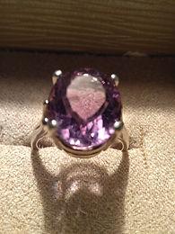 Amethyst Ring in 9.25 silver