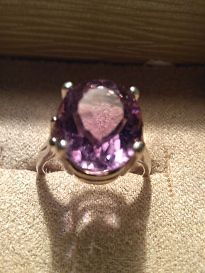 Amethyst Ring in 9.25 silver