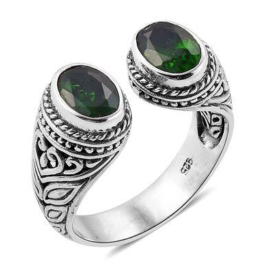 Chrome Diopside adjustable ring