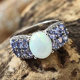 Opal & Tanzanite Ring
