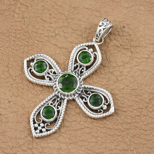 Russian Chrome Diopside Cross