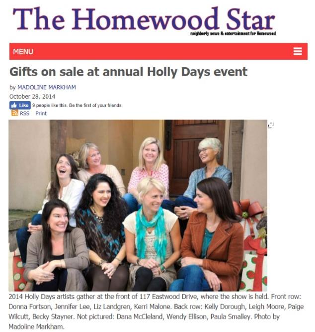Homewood Star Holly Days Article 2