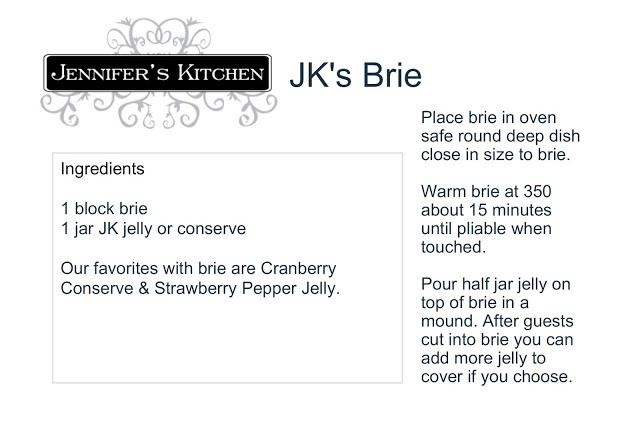 Recipe for baking Brie