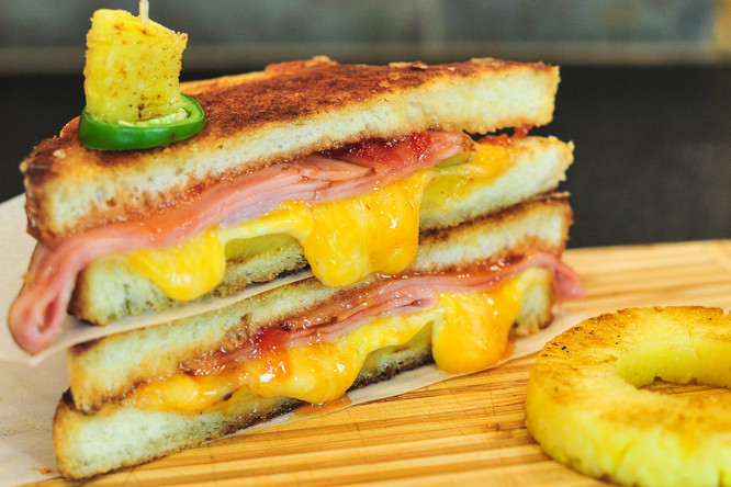 Hawaiian Pepper Jelly Grilled Cheese