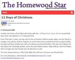 Homewood Star 12 days of Christmas