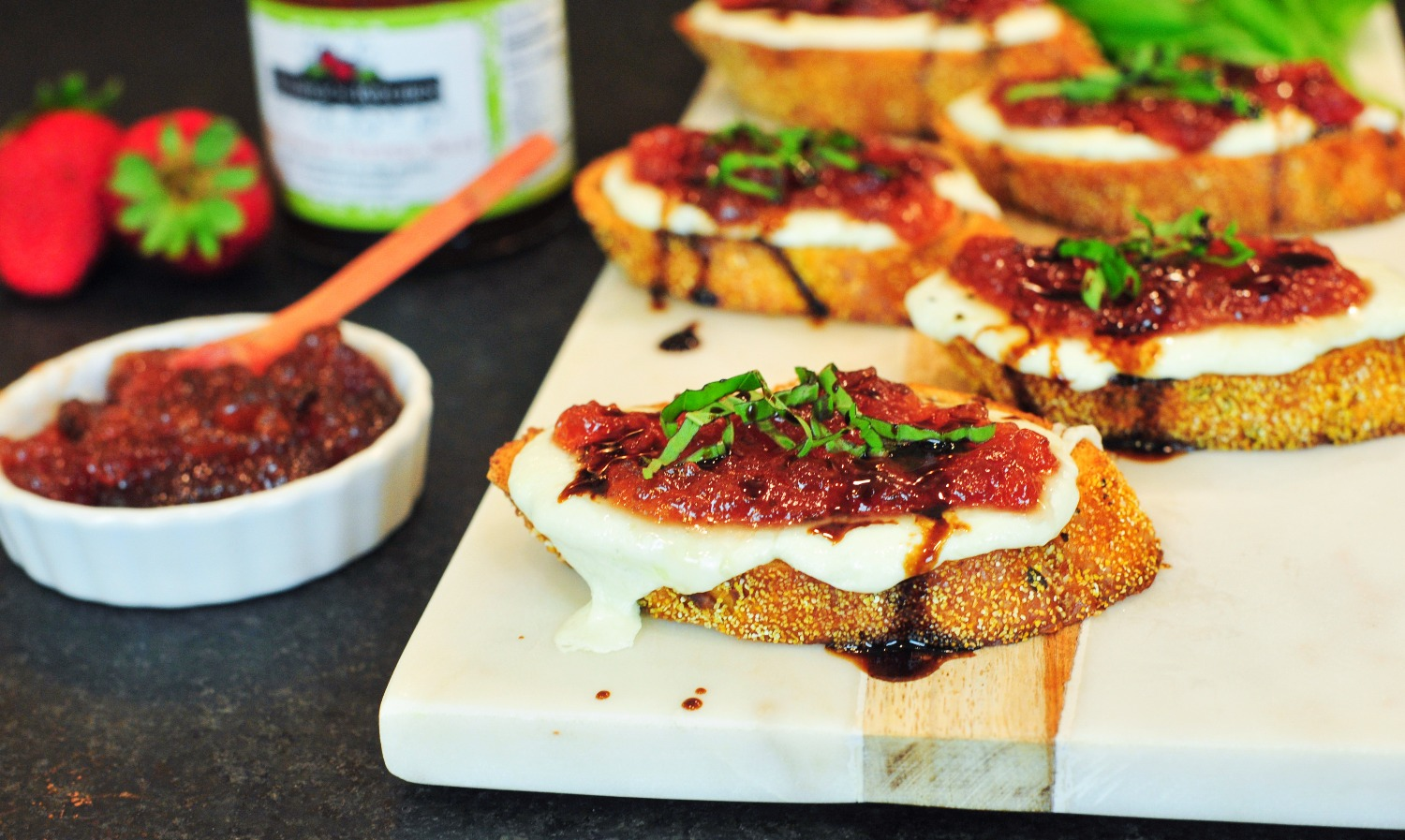 Balsamic Mozzarella Toasts