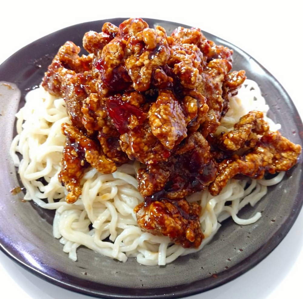 Manchurian Spicy Beef with Noodles