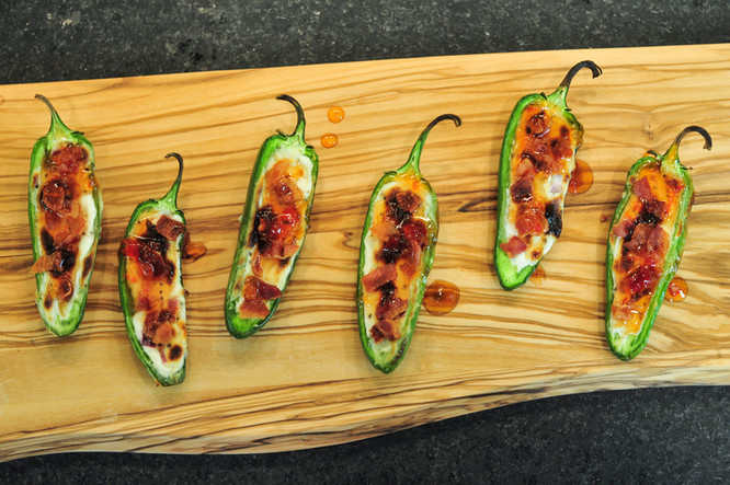 Bacon Goat Cheese Jalapeno Poppers