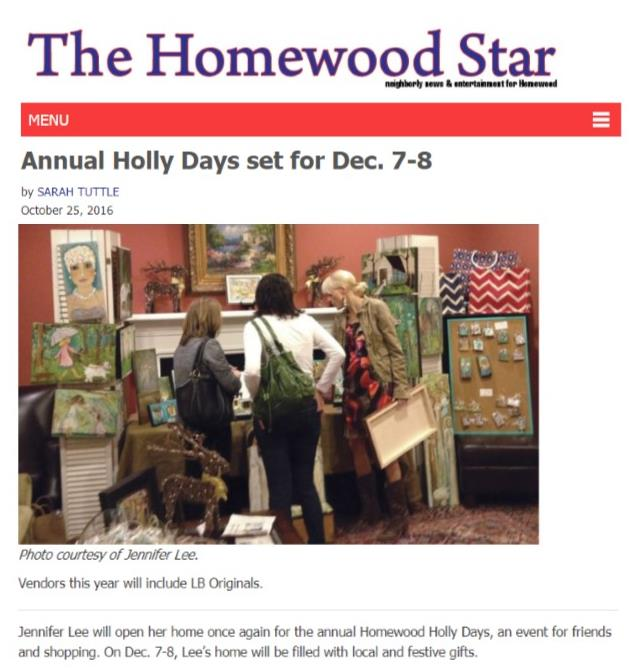 Homewood Star Holly Days Article 3