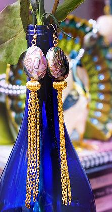 Abalone Tassel Earrings