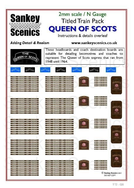 2mm Titled Train: Queen of Scots