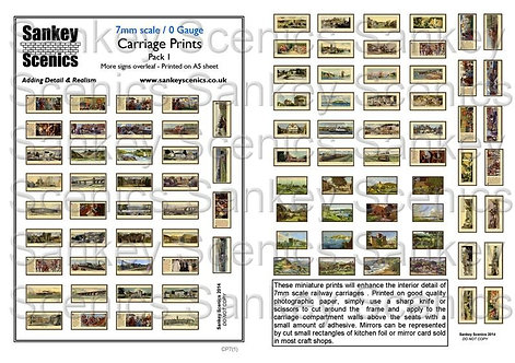 7mm Carriage Prints Pack 1