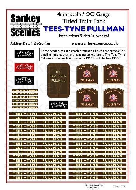 4mm Titled Train: Tees-Tyne Pullman