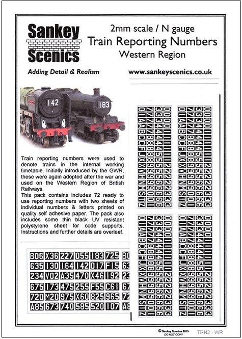 2mm Train Reporting Numbers Western Region