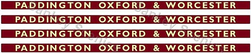 4mm BR Hawksworth Destination Boards: Paddington, Oxford & Worcester