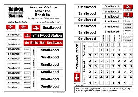 4mm Customised Station Pack: British Rail