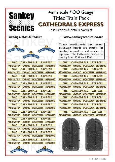 4mm Titled Train Pack: Cathedrals Express