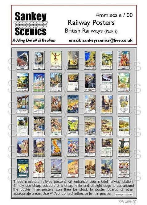 4mm British Railways Posters Pack 2