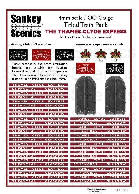 4mm Titled Train: Thames-Clyde Express