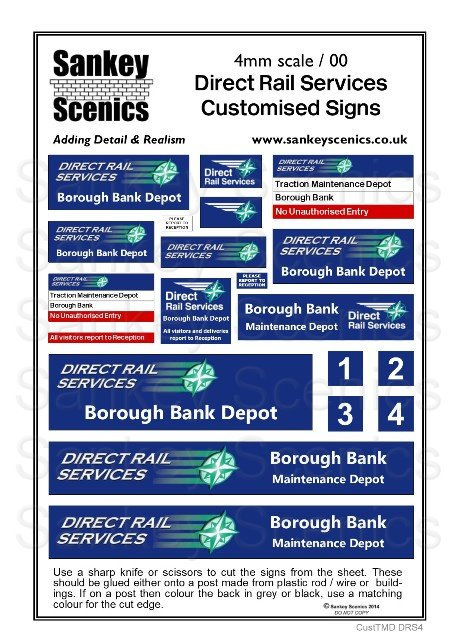 4mm Customised TMD Signage DRS Depot Combination