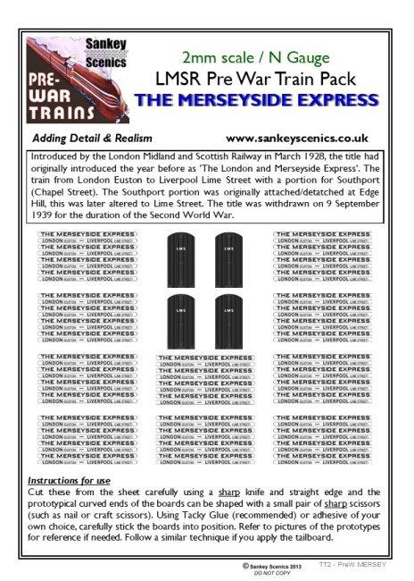 2mm Pre-war Titled Train: The Merseyside Express