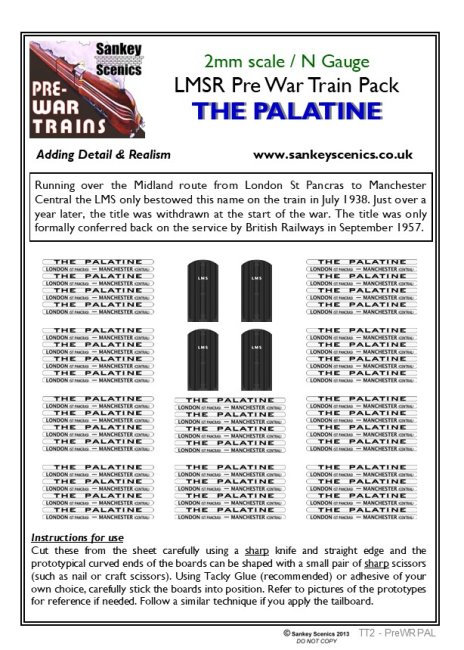 2mm Pre-war Titled Train: The Palatine