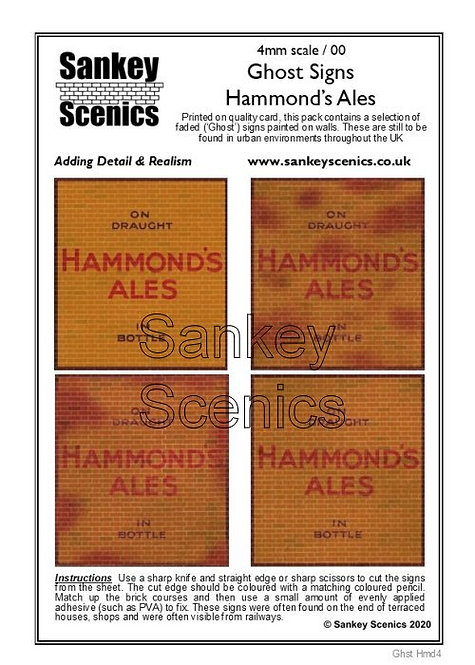 4mm Ghost Signs - Hammonds's Ales